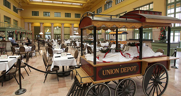 Christos Greek Restaurant is moving out of Union Depot after 20 years in its spot at the entrance of the renovated historic building in St. Paul. The Ramsey County Regional Railroad Authority will issue a request for proposals for a flagship restaurant and caterer to take its place. (File photo: Bill Klotz)