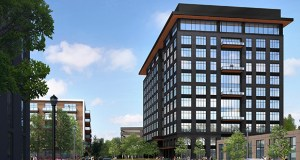 The 11-story 10 West End is planned as the first of two office project on the southern portion of the 13.5-acre Central Park West site in St. Louis Park, on the southwest corner of Highway 100 and Interstate 394. (Submitted rendering: Ryan Cos.)