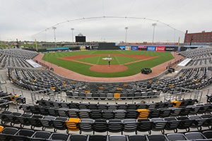 CHS Field, one of the most environmentally friendly ballparks in the nation, was built on land once was listed among the top 10 most contaminated sites in Minnesota. (File photo: Bill Klotz)