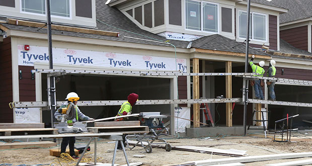 Mattamy Homes was building new houses last month in the southeast quadrant of Cedar Avenue South and Glassfern Way in Lakeville. The houses are part of the Avonlea development, where home prices range from $249,000 to $422,000. (File photo: Bill Klotz)