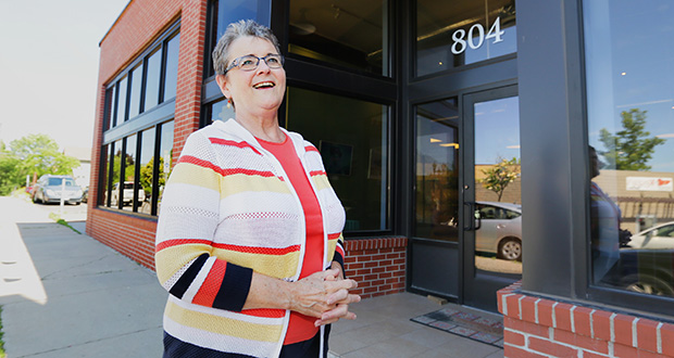 """There's long been an issue in St. Paul about whether St. Paul is really friendly to business start-ups and business ventures,"" said Deanna Abbott-Foster, executive director of the Dayton's Bluff Community Council/East Side Enterprise Center, at 804 Margaret St. in St. Paul. (Staff photo: Bill Klotz)"