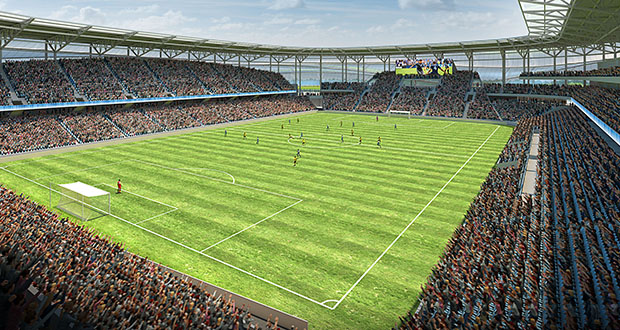A preliminary plat for the 20,000-seat, $150 million-plus professional soccer stadium is on track for final approval by the St. Paul City Council on Aug. 10. (Submitted image)
