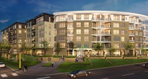 """The 210-unit Cake Residences, due to break ground in fall, will offer a mix of market-rate, luxury and """"ultra-luxury"""" units on a 1.77-acre site at 3200 Southdale Circle in Edina, according to Kurt Krumenauer, president of Midwest Apartment Brokers. (Submitted rendering: Midwest Apartment Brokers)"""