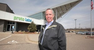 The late Brad Cleveland, former CEO of Maple Plain-based Proto Labs, is credited for building the company into a global manufacturer. This photo was taken when the company received a Progress Minnesota award from Finance & Commerce in 2013. (File photo: Bill Klotz)