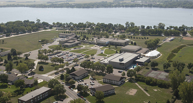 Minnesota West Community and Technical College is hoping to work with a developer to build student housing here on its campus in Worthington. (Submitted photo)