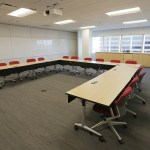 One of two training rooms PwC has in the building.