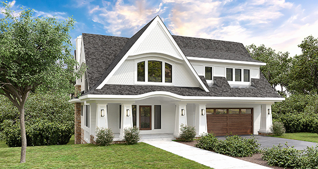 This computer rendering shows the new 5,208-square-foot home TC Homebuilders Inc. built in place of an older 1,348-square-foot home at 5309 Halifax Ave. S. in Edina. The new home sold for $1.925 million. (Submitted image: TC Homebuilders Inc.)