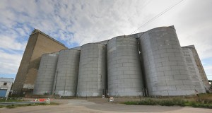 """The University of Minnesota plans to tear down these grain elevators to make room for a """"sports bubble"""" and recreational fields. The elevators are at 600 27th Ave. SE in Minneapolis. (Staff photo: Bill Klotz)"""