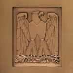 Eagle detail on an elevator door