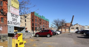 Developer Howard Bergerud wants to redevelop a 1.59-acre site – that includes aging buildings and a surface parking lot – on a portion of a North Loop Minneapolis block bounded by Second Avenue North, First Street North, Second Street North and First Avenue North. (Staff photo: Bill Klotz)