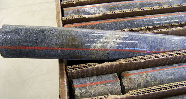 This Oct. 4, 2011, photo shows core samples containing copper, nickel and precious metals drilled from underground rock near Ely. Twin Metals Minnesota LLC, wanted to mine the rock, which is near the Boundary Waters Canoe Area Wilderness in northeastern Minnesota. (AP file photos)
