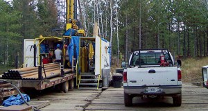 A prospecting drill rig bores into the bedrock Oct. 4, 2011, near Ely in search of copper, nickel and precious metals that Twin Metals Minnesota LLC hopes to mine near the Boundary Waters Canoe Area Wilderness in northeastern Minnesota. (AP file photo)