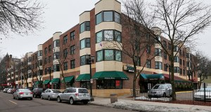 The 91-unit Hill Plaza Apartments are on floors two through four of the Blair Arcade West building at 400 Selby Ave. in St. Paul. The first floor offers retail and office space, anchored by Fabulous Fern's Bar & Grill. (Staff photo: Bill Klotz)