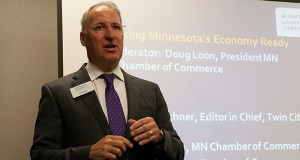 Doug Loon, president of the Minnesota Chamber of Commerce, says his organization is pushing state legislation aimed at building business revenues and getting Minnesota's gross domestic product up among those of the top 10 states. (File photo)