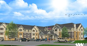 This rendering shows the design of Levande, a new 66-unit assisted living and memory care facility set to open in late fall at 2011 Sixth Lane SE in Cambridge. (Submitted image: Kaas Wilson Architects)