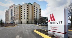 A Tampa, Florida, buyer who purchased the Minneapolis Marriott Northwest hotel at 7025 Northland Drive N. in Brooklyn Park paid more than six times what the seller did for the property in 2010. The hotel underwent $24 million in renovations in 2012. (Staff photo: Bill Klotz)