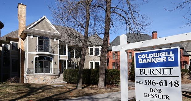 The number of homes on the market remained low in February in the 13-county Twin Cities region. This home at 1620 Kenwood Parkway in the Lowry Hill neighborhood of Minneapolis was an exception. (File photo: Bill Klotz)