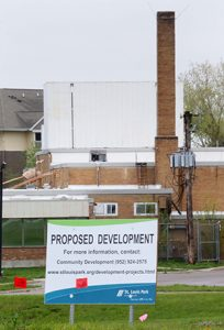 The city of St. Louis Park has tried for 20 years to get a developer for the McGarvey Coffee site, a 5.2-acre complex at 5606 W. 36th St., adjacent to a future station on the planned Southwest Light Rail Transit line. (Staff photo: Bill Klotz)