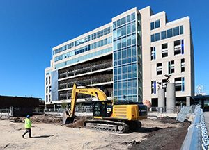 """Some """"light environmental work"""" has already started on a surface parking lot at 2900 Fremont Ave. S. in Minneapolis, the site for the future MoZaic East office building in Uptown. (Staff photo: Bill Klotz)"""