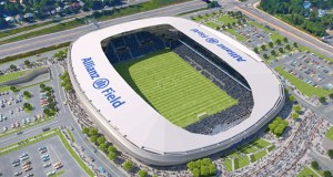 Minnesota United's 19,400-seat soccer stadium in St. Paul's Midway neighborhood will be called Allianz Field when it opens in 2019. (Submitted image: Minnesota United)