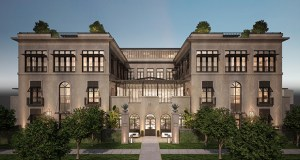 Restoration Hardware's planned four-story store at the northeast corner of France Avenue South and 69th Avenue West in Edina, part of the Southdale Center, is part of its new RH Gallery store line. (Submitted rendering: Hobbs and Black Architects)