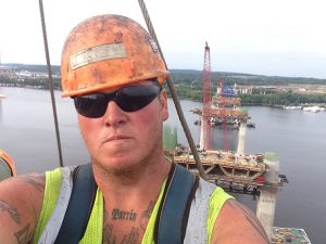Construction worker Brian Volk, who lives just north of Hinckley, Minnesota, drove 95 miles each way daily to the St. Croix Crossing project. ( Submitted image)