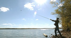 An angler casts his line into Lake Vermilion in September 2005. After construction delays this summer, DNR officials are hopeful the new campground at Lake Vermilion-Soudan Underground Mine State Park will open in September. (AP file photo)
