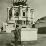 The State Capitol's original architect, Cass Gilbert, is shown atop the Capitol during construction in this early 1900s photo. (Submitted image: Minnesota Historical Society)