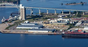 The Duluth Seaway Port Authority's main business is shipping by water, but it now has added an intermodal option, with shipping containers being moved between rail lines and trucks. (Submitted photo: Duluth Cargo Connect)