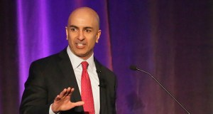 Minneapolis Fed President Neel Kashkari, shown here at the JW Marriott hotel at the Mall of America in Bloomington in February 2016, said in a Tuesday speech at the University of Minnesota that Federal Reserve interest rate increases may be leading to slower job growth. (File photo: Bill Klotz)