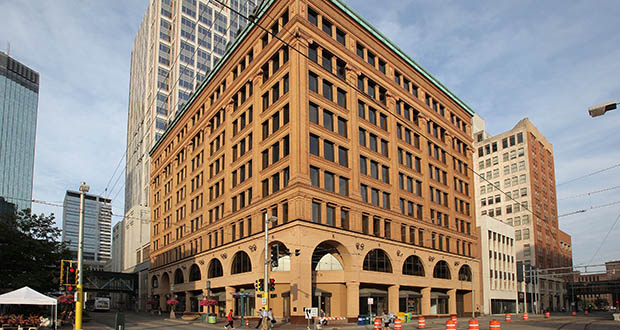 The historic Renaissance Square building, at 500-520 Nicollet mall, is near the Nicollet Mall light rail station in downtown Minneapolis. (File photo: Bill Klotz)