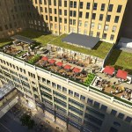 Gensler's architectural images for The Dayton's Project depict transparent and open spaces. Among the signature features is a rooftop garden with gathering spaces, which will top off the structure. (Submitted rendering)