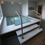 A hot tub and spa off of the second-floor clubhouse.