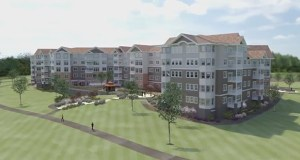 Minneapolis-based United Properties will build its second Applewood Pointe senior living complex in Champlin, this time on a 5.7-acre lot at the northeast quadrant of Highway 169 and Miller Road. JSSH Architects Inc. of Minnetonka did the design work. (Submitted image)