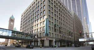 The 222-room Hotel Minneapolis, at 401 Second Ave. S. in downtown, once was home to Midland Bank. (File photo: Bill Klotz)