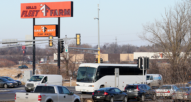 Washington County hopes to begin construction next year on an interchange project that will improve safety, traffic flow and business access at this Highway 36-Hadley Avenue intersection in Oakdale. (Staff photo: Bill Klotz)