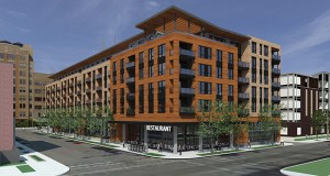 Sherman Associates' 205 Park Ave. S. mixed-income project in downtown Minneapolis will start construction in March, and is expected to open in July 2019. (Submitted Illustration: ESG Architects)