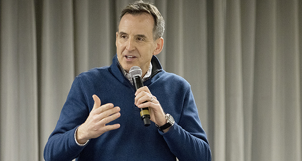 Former Minnesota Gov. Tim Pawlenty said Friday that workers who believe their jobs cannot be replaced by automation may want to re-evaluate what the future is bringing. (Staff photo: Matt M. Johnson)
