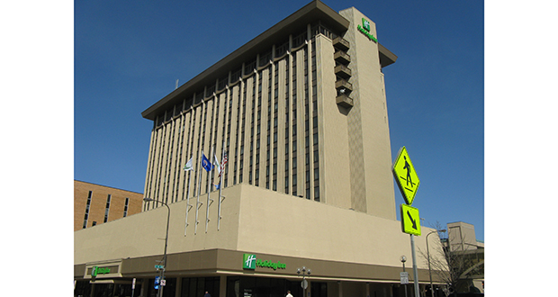 "The Holiday Inn at 220 Broadway Ave. S. in downtown Rochester, Minnesota, is considered a ""hot commodity"" because it is connected by skyway to the Mayo Clinic and the Mayo Civic Center. (Submitted photo: Olmsted County)"