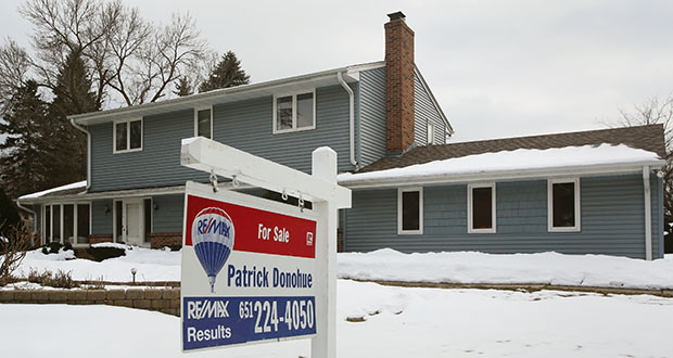 This 2,113-square-foot home at 790 Emerson Ave. in Mendota Heights is among a shrinking inventory of homes for sale in the Twin Cities market. But homes are selling quickly, with an average of 57 days in March, according to the Minneapolis Area Association of Realtors. (Staff photo: Bill Klotz)