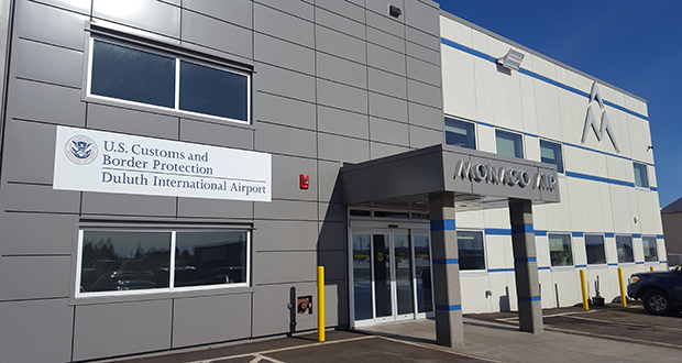 Monaco Air Duluth processes hundreds of flights per year. A typical stop includes refueling, food and beverage restocking, and perfunctory craft maintenance. International flights require immigration control clearance. (Submitted photo: Monaco Air Duluth)