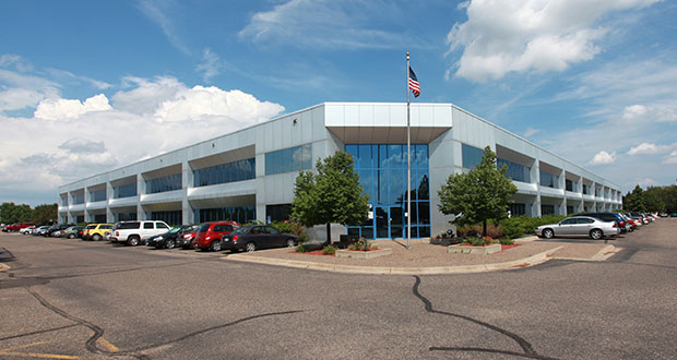 Proto Labs, a custom manufacturer headquartered in Maple Plain, has purchased this 152,000-square-foot production building at 8500 N. Wyoming Ave. in Brooklyn Park. It plans to relocate its CNC machining operations from its Plymouth facility and refocus the Plymouth factory on injection molding. (Submitted photo: Costar)