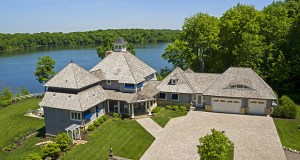 This four-bedroom, six-bath, 6,380-square-foot home in Minnetrista offers 975 feet of shoreline on Whaletail Lake for $3.575 million. (Submitted photo: Jeff Dewing)