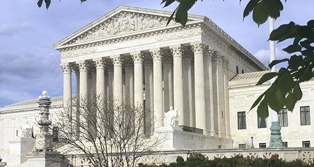 This April 23, 2018 photo shows the Supreme Court building in Washington. (AP file photo)