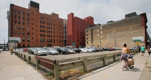 A parking lot at 240 Park Ave. S. is slated to be the first housing project by the Wilf family in downtown Minneapolis. (Staff photo: Bill Klotz)