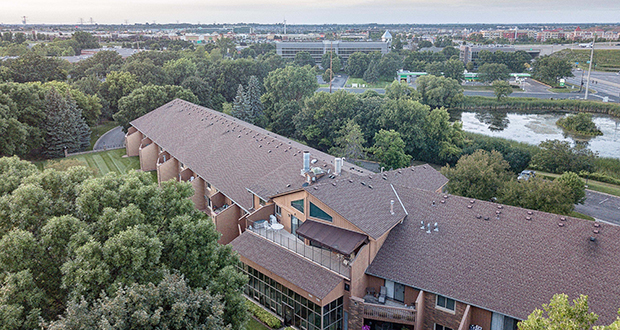The original developer of Hemlock Pines, a 61-unit apartment complex at 7225 Hemlock Lane N. in Maple Grove, has sold it after 33 years for $8.6 million. (Submitted photo: CoStar)