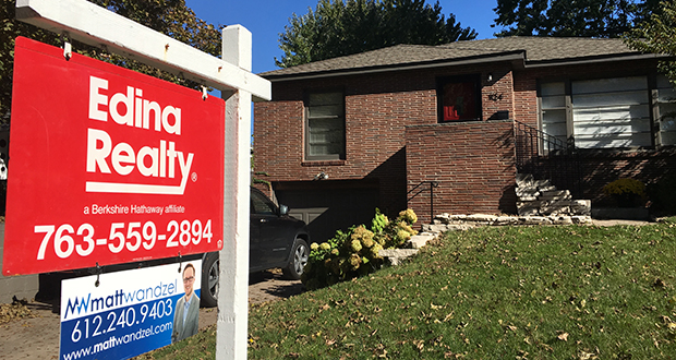 A home for sale at 1124 Rhode Island Ave. N. in Golden Valley is part of a Twin Cities residential market that saw a significant drop in sales between August and September. (Submitted photo: Edina Realty)