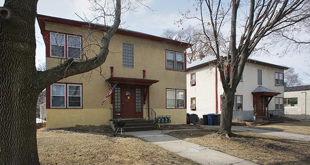 """Fourplexes such as this one won't be coming to existing single-family neighborhoods under the latest draft of the Minneapolis 2040 plan, which now calls for """"upzoning"""" residential areas for triplex development. (File photo: Bill Klotz)"""