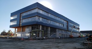 Golden Valley-based Mortenson is building One Discovery Square, a 90,000-square-foot research and office building in Rochester's Destination Medical Center district. The project is scheduled for completion in April. (Staff photo: William Morris)