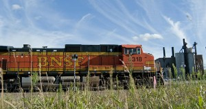 Downtown Willmar is a hub for rail traffic, with users that include the BNSF Railway Co. Black River Falls, Wisconsin-based Hoffman Construction Co. is the low bidder for a rail bypass project that will eliminate a choke point in the city. (Submitted photo: MnDOT)